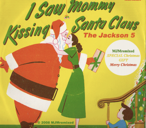 mommy kissing santa